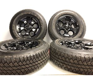 """18"""" oem Jeep Wrangler wheels and tires new take off for Sale in Warren, MI"""