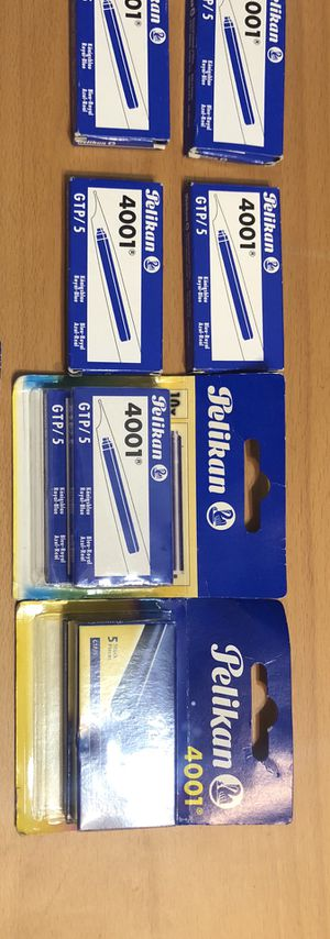 Pelikan 4001 fountain/calligraphy pen refill color blue for Sale in Los Altos, CA