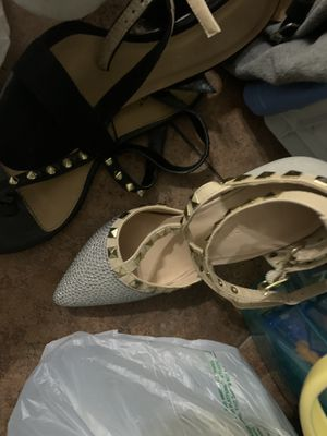 Heels and shoes!!and clothes small!!!FREE for Sale in Houston, TX