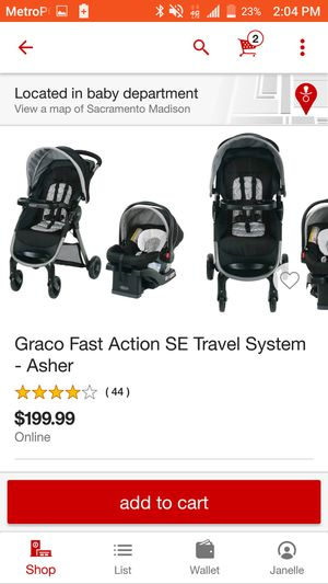 Graco travel system for Sale in Sacramento, CA