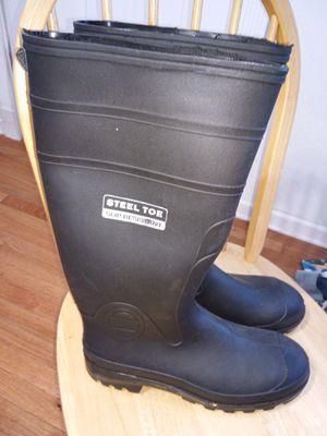 Men's steel-toed black work concrete boot for Sale in Portsmouth, VA