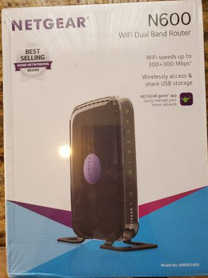 New Netgear WiFi Dual Band Router N600 for Sale in Trenton, NJ