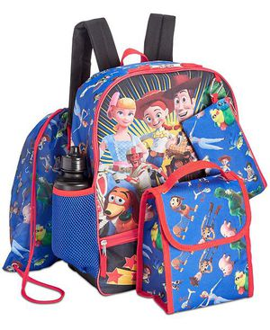 Kids Toy Story 5pc Backpack Set (New w/ Tags) for Sale in Irving, TX