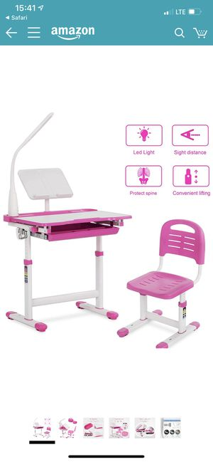 Mecor Multifunctional Children's Desk and Chair Set Kids Work Station pink for Sale in Bayonne, NJ