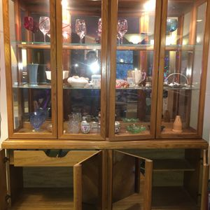 Oak China Closet for Sale in Jefferson, NJ