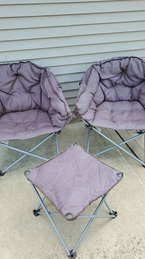 2 patio club chairs and ottoman for Sale in Washington, IL