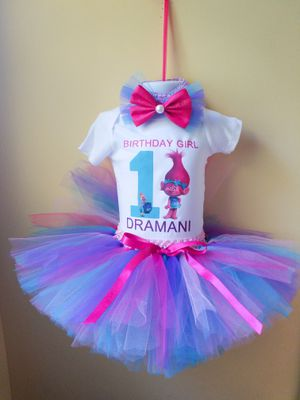 Trolls 1st birthday outfit for Sale in Tucker, GA