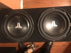 2 12s jl audio w1 v3 for Sale in Oakland, CA