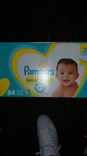 Pampers Swaddlers Size 2 (12-18lb) 84 count for Sale in Seattle, WA