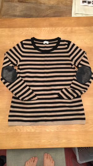 Club monaco sweater with leather elbow patch for Sale in New York, NY