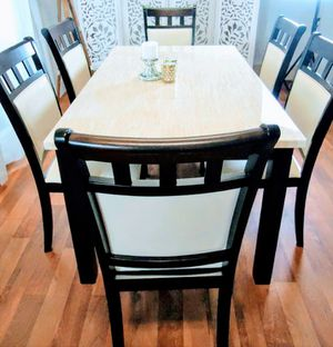 New Marble Top Dining Tables Dining Room Table Six Chairs for Sale in Baltimore, MD