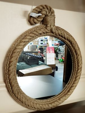 NEW Wall Hanging Rope Frame Mirror: njft home decor hsewres for Sale in Burlington, NJ