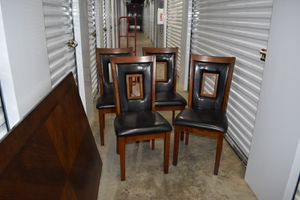 Solid Wood Dining Table w/4 Chairs & Bench Seats 6 for Sale in Sebastian, FL