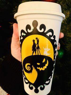Personalized Nightmare Before Xmas Starbucks Cup for Sale in Riverside, CA