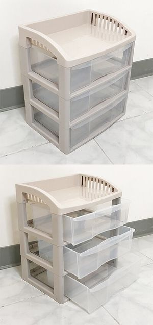 "(NEW) $15 each 3-Tier Plastic Desk Organizer Tray Drawer for Home Office Paper, 14x10x16"" for Sale in Whittier, CA"