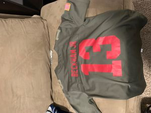 Odell Beckham JR NY Giants jersey size kids large for Sale in Dickinson, TX