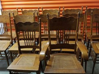 12 OAK ANTIQUE CHAIRS for Sale in Centreville,  VA