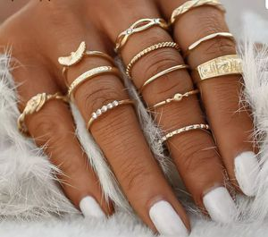 12 Pcs/set Gold Midi Finger Ring Set Vintage Punk Boho Knuckle Rings Jewelry for Sale in North Las Vegas, NV