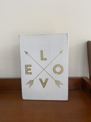 White/Gold LOVE Wall Decor for Sale in Rockville, MD