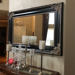 Black In Silver Mirror In Good Condtion for Sale in Tracy,  CA