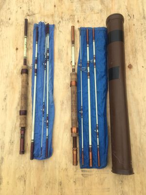 """Two VINTAGE 4 pc SHAKESPEARE WONDEROD 7'0"""" Fly Fishing Rod for Sale in Des Moines, WA"""