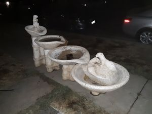 Otter Cement Outdoor Fountain for Sale in Fresno, CA