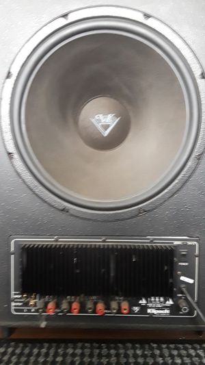 "Klipsch 2- 15"" Powered Home Subwoofer, Real Wood ,Not Press Bord for Sale in Garden City, MI"