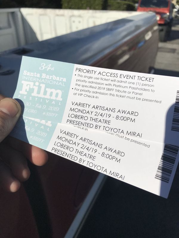 SBIFF: Priority Access Event Passes: Variety Artisans Award