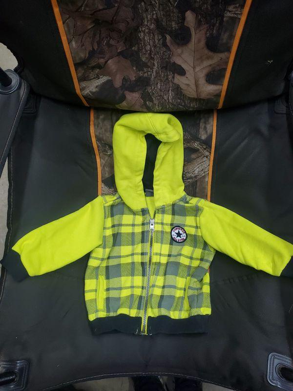 6-9 months neon yellow Converse sweatshirt