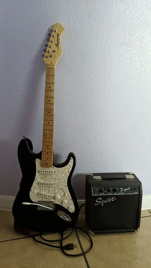 Harmany Guitar, and a Squier speaker for Sale in Phoenix, AZ