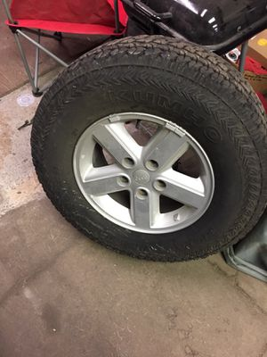08Jeep Wrangler 5 wheels and tires for Sale in West York, PA