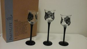Partylite Forbidden Trio candle holders for Sale in Clinton Township, MI