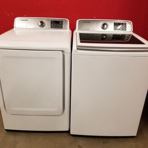 Samsung Washer and Electric Dryer Set Good Working Condition Set For $399 for Sale in Lakewood, CO