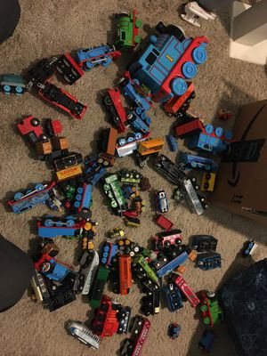 Thomas the Train characters with a lot with tracks for Sale in Perris, CA
