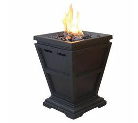 UniFlame 11 in. W x 11 in. D Tabletop LP Gas Fire Pit with Electronic Ignition and Lava Rocks for Sale in Dallas,  TX