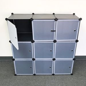 """(NEW) $40 Plastic Storage 9-Cube DYI Shelf with Door Clothing Wardobe 43""""x14""""x43"""" for Sale in Whittier, CA"""