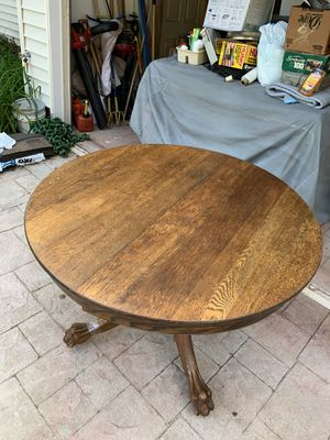 Antique Oak captains table w/two leaves for Sale in Sterling, VA
