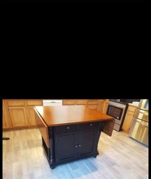 Coffee espresso COLOR , kitchen island very good condition for Sale in Los Angeles, CA