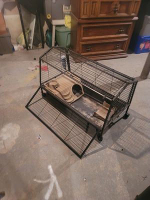 Used Small Animal Cage w/ Water Bottle and Feed Dish!!! for Sale in Buffalo, NY