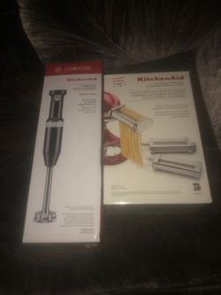 KitchenAid 3-Piece Pasta and Roller Cutter set and Cordless Hand Blender for Sale in Portland,  OR