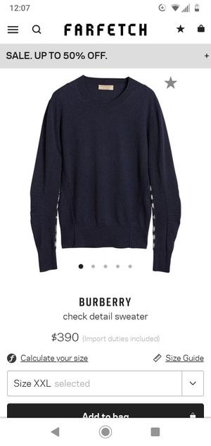 Burberry sweater for Sale in Larkspur, CA