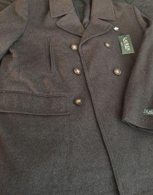 Ralph Lauren men's Peacoat(wool coat) (Size L) Brand New for Sale in Washington, DC