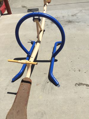 Teeter toddler see saw commercial grade just like in a school yard very very strong very heavy for Sale in Ontario, CA