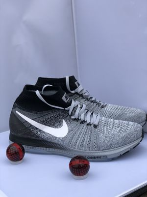 Nike Zoom All Out Flyknit Men's Size 10.5 Running Wolf Grey White Black 844134-003 for Sale in Fort Washington, MD