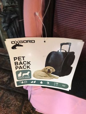 Pet backpack/ rolling travel carrier for Sale in Fresno, CA