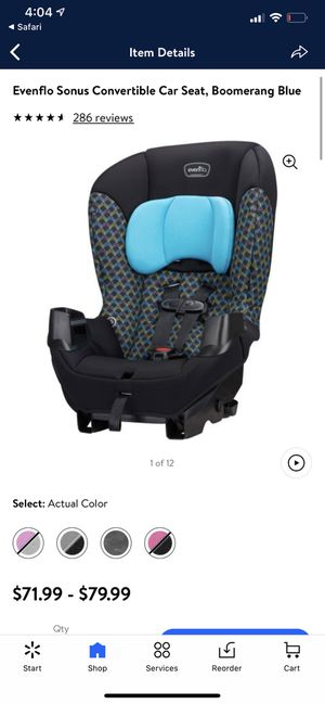Brand New Evenflo Sonus Convertible Car Seat, Boomerang Blue for Sale in Fresno, CA