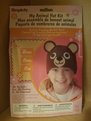 Simplicity My Animal Kid's Bear Hat Kit for Sale in Woodburn, OR