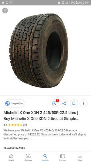 Michelin. 455/55 R 22.5 semi tires for Sale in Lincoln, NE
