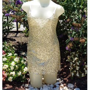 Intimately Free People Sheer gold Sequin adjustable Strap Dress Size XS for Sale in Washington, DC