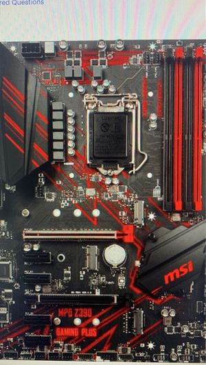 MSI - MPG Z390 Gaming Plus (Socket LGA1151) USB 3.1 Gen 1 Intel Motherboard with LED lighting for Sale in Fort Lauderdale, FL